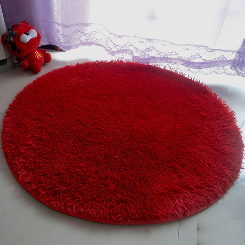 100cm Diameter Door Mats Wire Fluff 2.5cm High Fur For Living Room Anti-Slip Rugs And Carpets Rug Pad Bedroom Mats Cushion Mats & ?100cm Diameter Door Mats Wire Fluff 2.5cm High Fur For Living Room ...