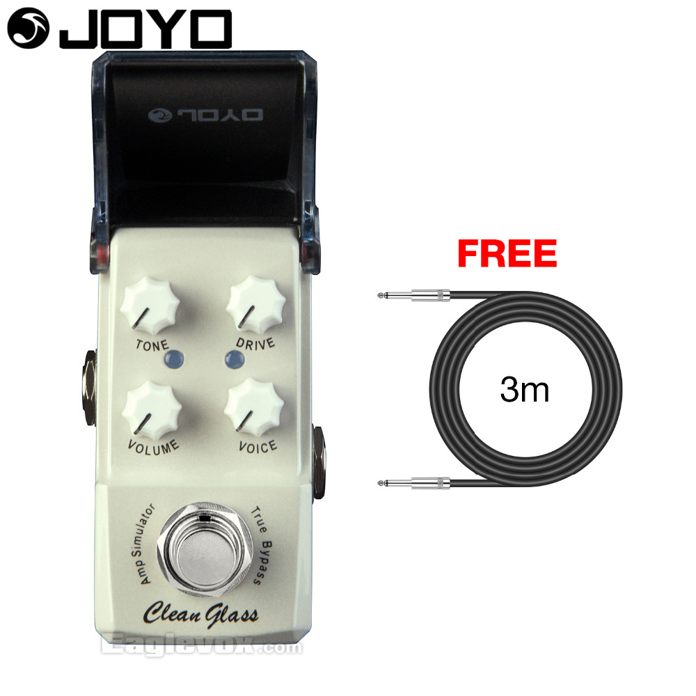 Joyo Clean Glass Amp Simulator Electric Guitar Effect Pedal True Bypass Ironman JF-307 with Free 3m Cable стоимость