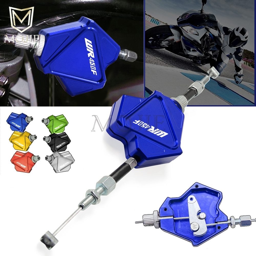 Motorcycle CNC Aluminum Stunt Clutch Lever Easy Pull Cable System For YAMAHA WR450F <font><b>WR</b></font> <font><b>450F</b></font> 450 WR450 F 2001-2018 2017 2016 2015 image