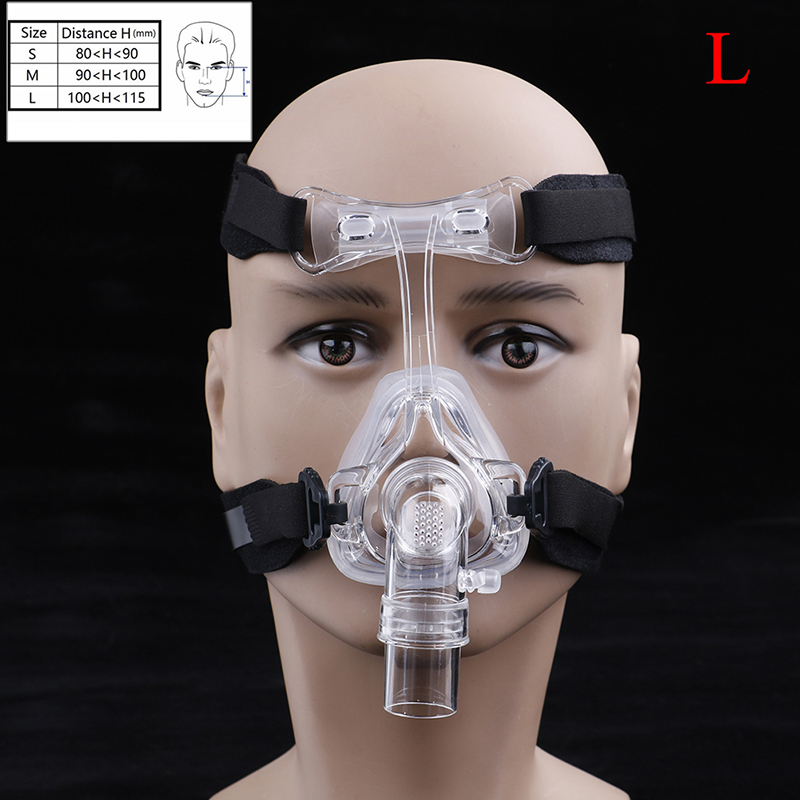 SML 3 Size Full Face Mask For All Sizes Face With Headgear and User Manual and Auto CPAP Mask Sleep Snoring Apnea