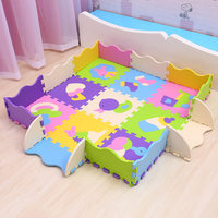 EVA baby play mat 9pcs foam puzzle carpet for kids gym baby activity soft floor numbers animals pattern toys Mei Qi Cool