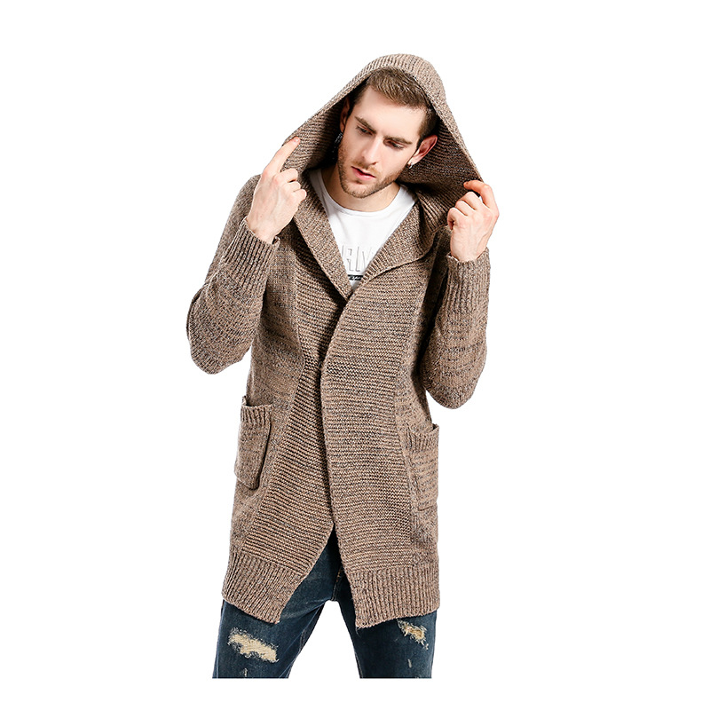 Aliexpress.com : Buy Long Trench Coat Men Hooded Cardigan Mens ...