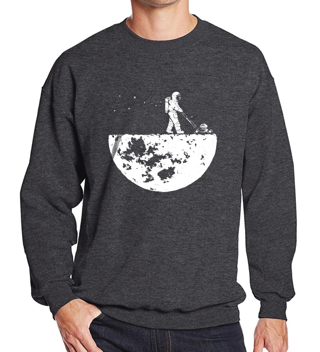 Лидер продаж 2018 г. Мужские кофты на осень-зиму флис печати развивать Moon модные повседневные Мужская спортивная одежда с капюшоном Harajuku толстовки
