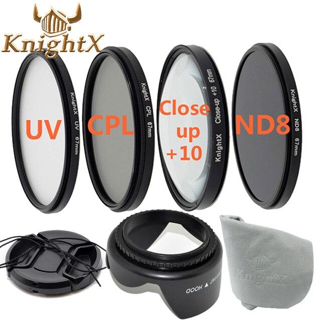 KnightX FLD УФ CPL ND цвет Комплект Фильтров для Nikon D5200 D5100 D3200 D3100 canon 1200d 1100D gopro 49 мм 52 мм 55 мм 58 мм 62 мм 67 мм