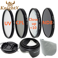 KnightX FLD UV CPL ND color Filter Kit for Nikon D5200 D5100 D3200 D3100 canon 1200d 1100D gopro 49mm 52mm 55mm 58mm 62mm 67mm