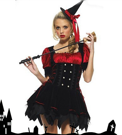 UTMEON-Clearance-Flannelette Witch Halloween Costumes Fancy Party Adult Witch Costume Sexy Halloween Witch Net Yarn Costume