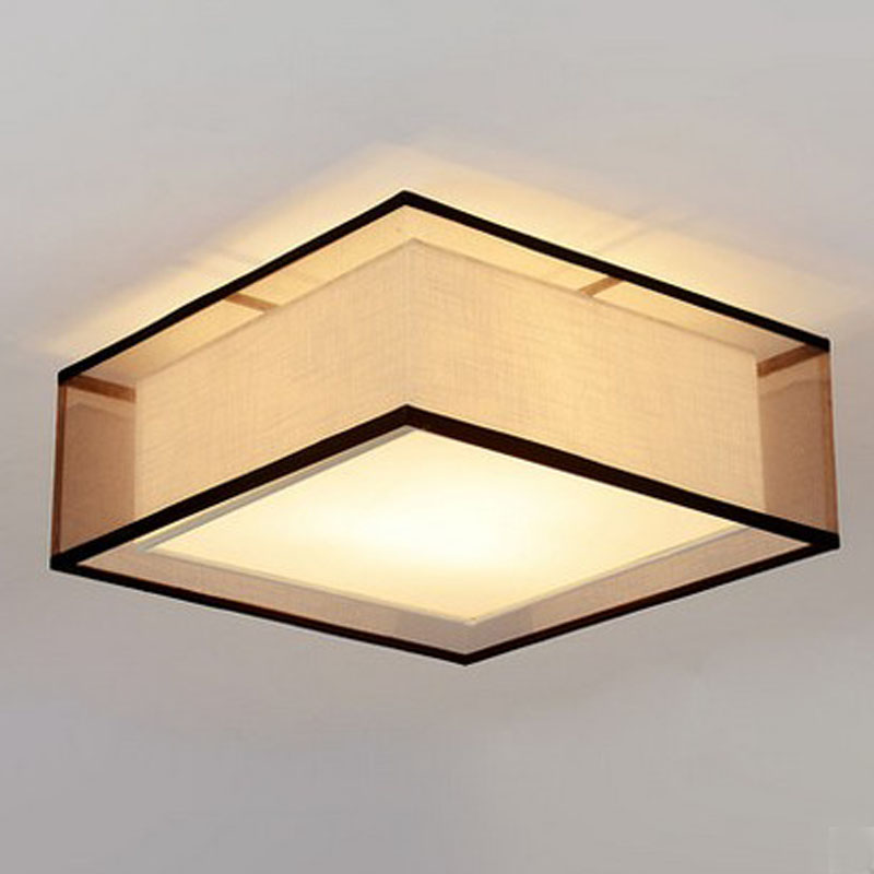 A1 American Rural Nordic new modern new Ceiling Lights restaurant bedroom living room study linen fabric