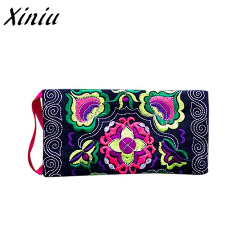 Most Popular Women Ethnic Handmade Embroidered Wristlet Clutch Bag Vintage Purse Wallet Polyester fiber Coin Purses ethnic embroidered black cami dress for women