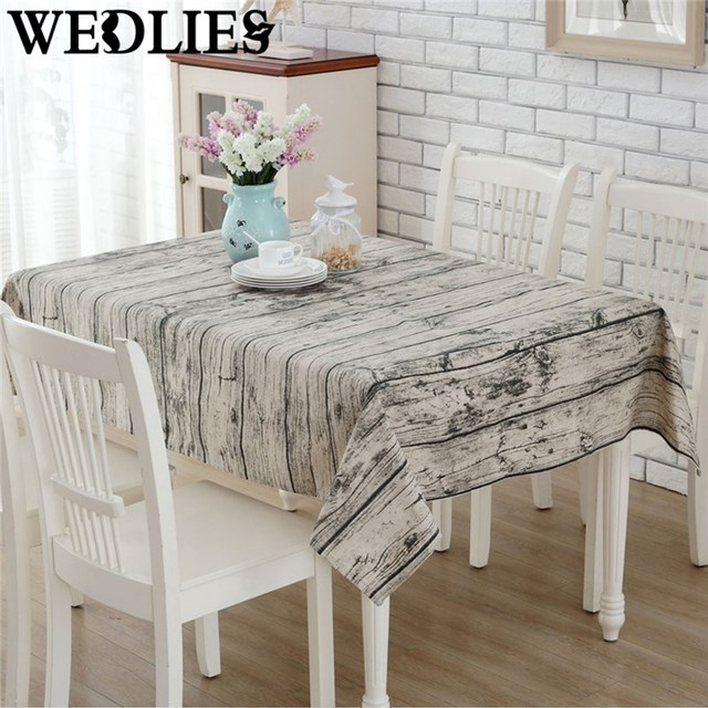 140 X 180cm Wood Grain Tablecloth Burlap Table Runners Cheap Tablecloths  For Sale Linen Simple Knitted