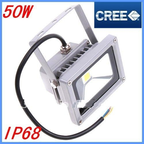 fedex Free Shipping 1piece AC85-265V CU CREE 50W 5500LM LED Flood Light Floodlight IP68 outdoor LED street Lamp