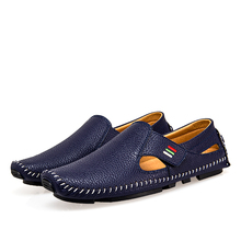 Plus Size 38-47 Leather Mens Shoes Spring Men Loafers Men Luxury Driving Shoes Slip On Casual Men Loafer Moccasins