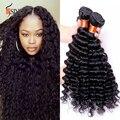 Aliexpress UK: 7A grado brasileño de la virgen rizada profunda del pelo de visón 4 unids mojado y ondulado pelo de la virgen brasileña bundles cabello natural negro