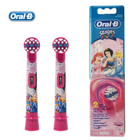 Oral B Replaceable Electric Toothbrush Heads EB10 2 Heads Pack Replacement Children Kids Brush Heads Soft