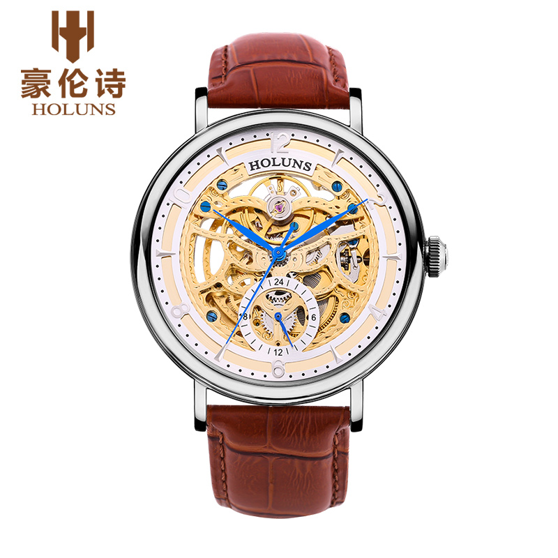 HOLUNS OR002 Watch Geneva Brand skeleton watches mens fully automatic self-wind watches fashion business relogio masculino ароматизатор aroma wind 002 a