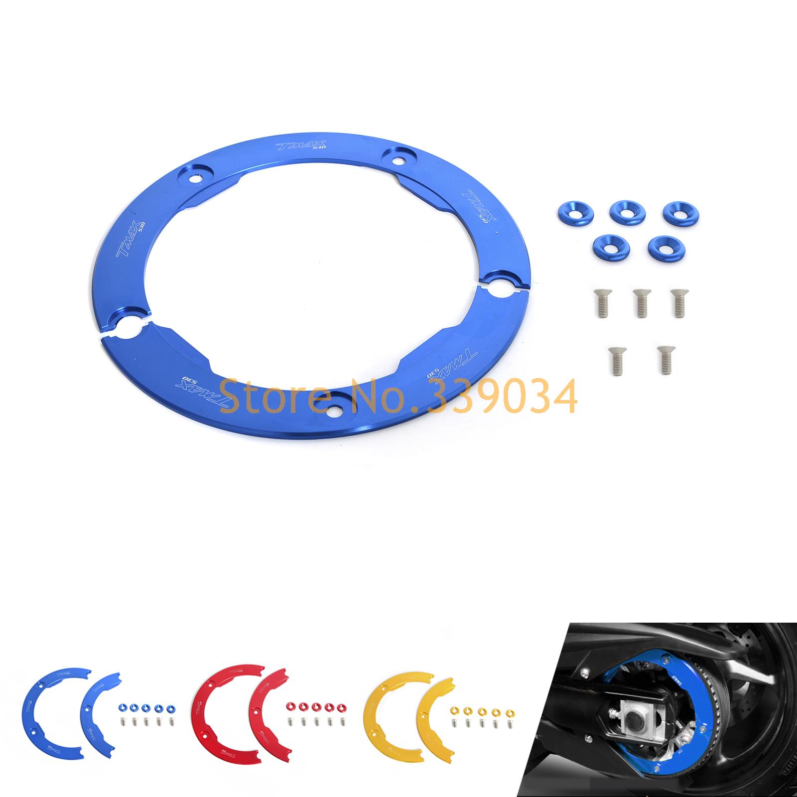 ФОТО Aluminum Transmission Belt Pully Cover Anodized For YAMAHA TMAX530  2012 2013 2014 2015