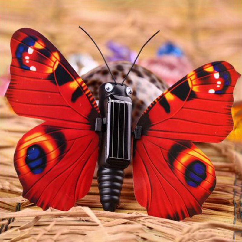 Novelty Magic ABS Butterfly Insect Shaped Solar Powered