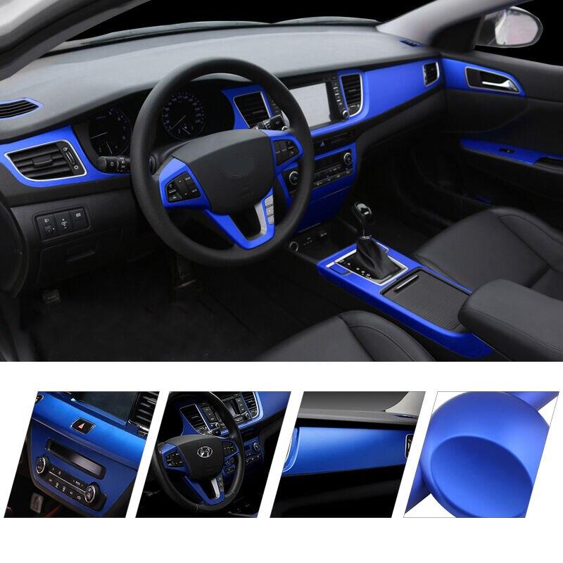 Interior do carro estilo filme decalques acessórios fosco chapeamento de gelo filme auto motocicleta vinil envoltório mudança de cor adesivos decorativos