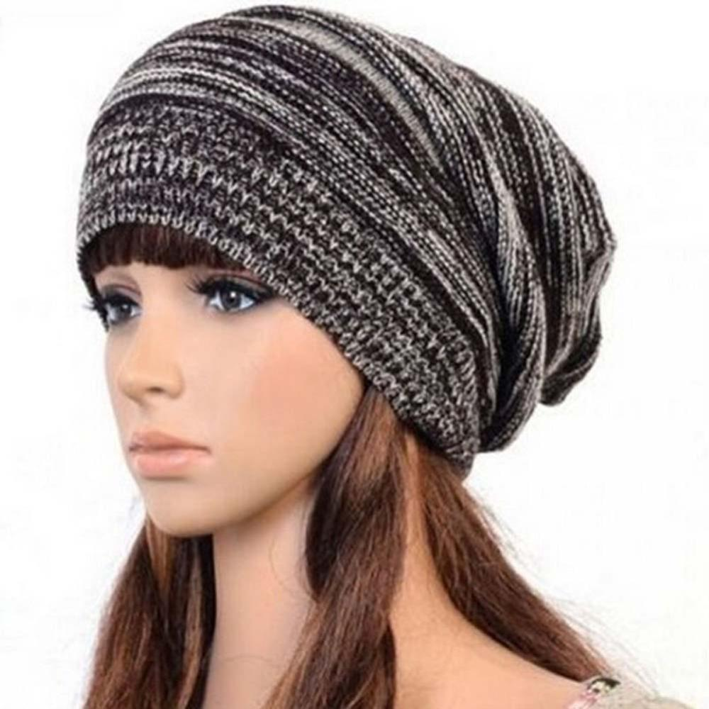 New Fashion 2018 Unisex Women Men Knit Baggy Beanie Beret Winter Warm Oversized  Cap Hat fc36d591cfa