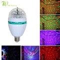 6 W RGB Bulb Spotlight Cor Completa Auto Rotação Lâmpada KTV Cristal LEVOU Luz Do Estágio Do Partido Do Laser Lâmpada LED Colorido Interior iluminação
