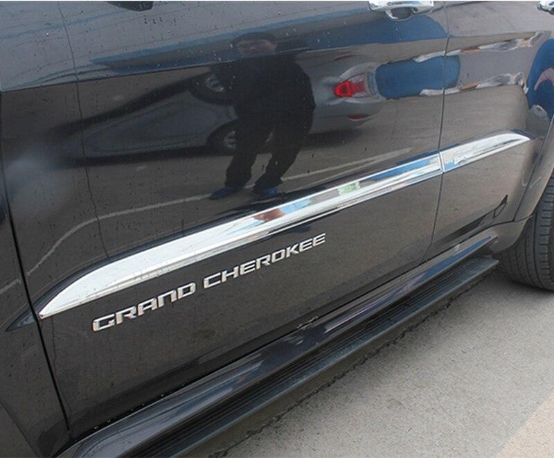 Para Jeep Grand Cherokee 2014 cromo ABS puerta lateral Cuerpo ...
