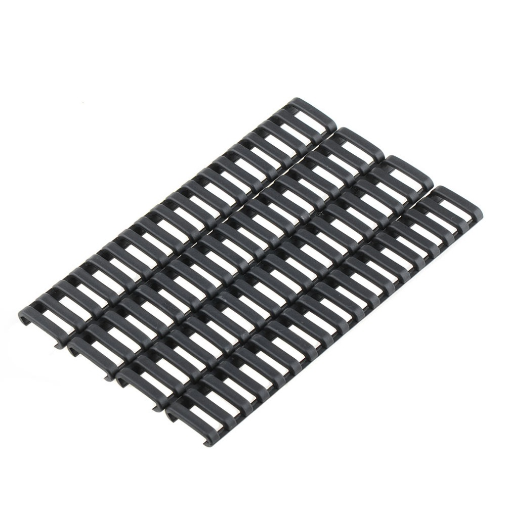 Newest 4pcs/LOT New 18-Slot Picatinny Ladder Rail Panel Handguard Protector Resistant Cover P15 ladder lace panel calico print blouse
