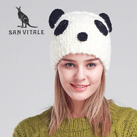 Skullies     Beanies   Hats For Women Hats Winter Warm Famous Brand Hat Skull High Quality panda Designer Casual Clothing Accessories