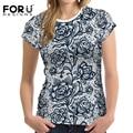 Forudesigns alta calidad del verano camisetas mujeres camisas de encaje sexy lady tee tops para mujer casual camiseta de manga corta crop tops