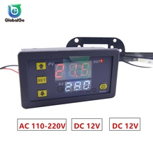 W3230 DC 12V AC 110V 220V 20A LED Digital Thermostat Temperature Control Mini LED Display Thermostat Regulator Measurement