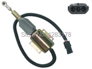 Fast free shipping - Fuel Shutdown Solenoid Valve 3930235 SA-4348-12 12V 3924450 2001es 12 fuel shutdown solenoid valve for cummins hitachi