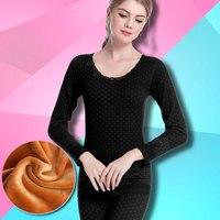 velvet women underwear suits slimming seamless rendering autumn winter models thermal long johns femal inner wear sets