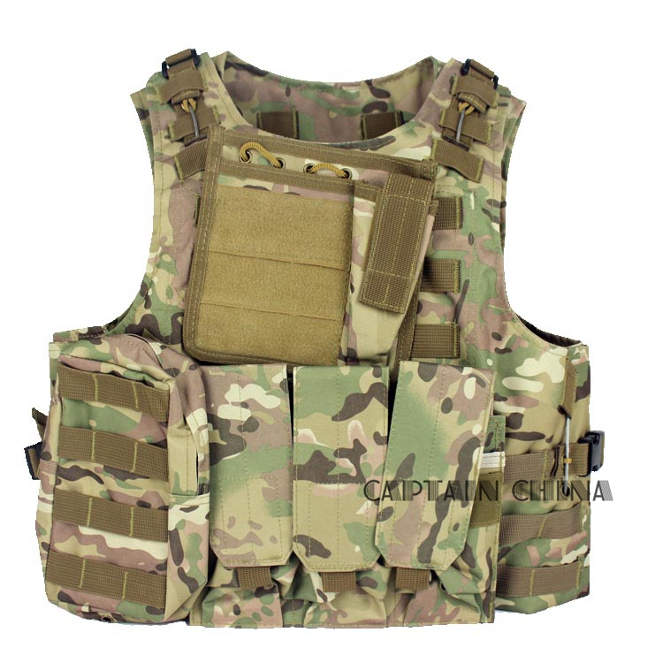 CS Tactical Vest Black Airsoft Tactical Hunting Paintball Molle Plate Carrier Adjustable Vest
