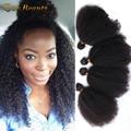 7A Virgem Encaracolado Afro Crespo Mongol Tecer Cabelo Humano Alguma Vez Produtos de beleza Cabelo 1 Pc Só Cabelo Virgem Encaracolado Crespo Extenions