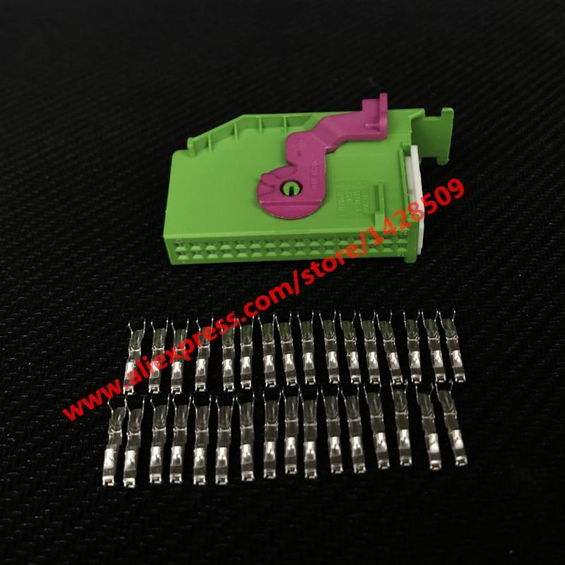 1 Set 32 Pin 1J0972977C 1719057-1 Automotive Connector ECU For Instrument Dashboard Plug Connector Audi VW Seat Skoda TYCO AMP