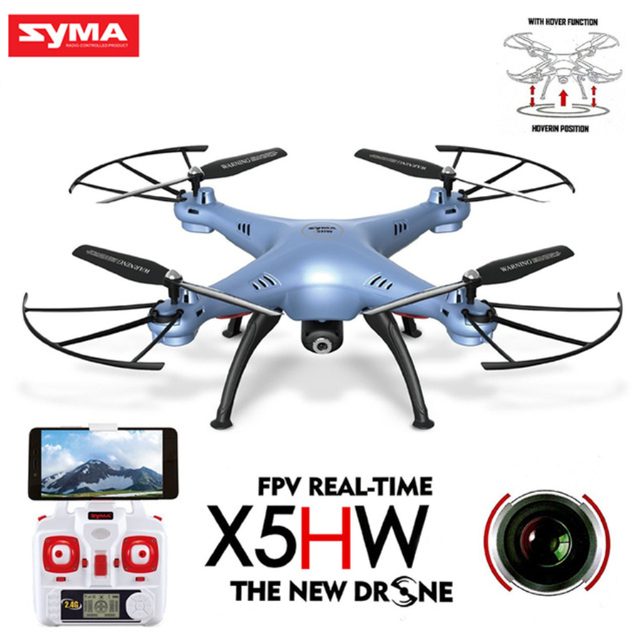 SYMA X5HW RC Drone With Camera Wifi FPV HD Real-time Quadrocopter 2.4G 4CH Helicopter RC Dron Toys rc helicopter q212 q212k q212g 5 8g fpv