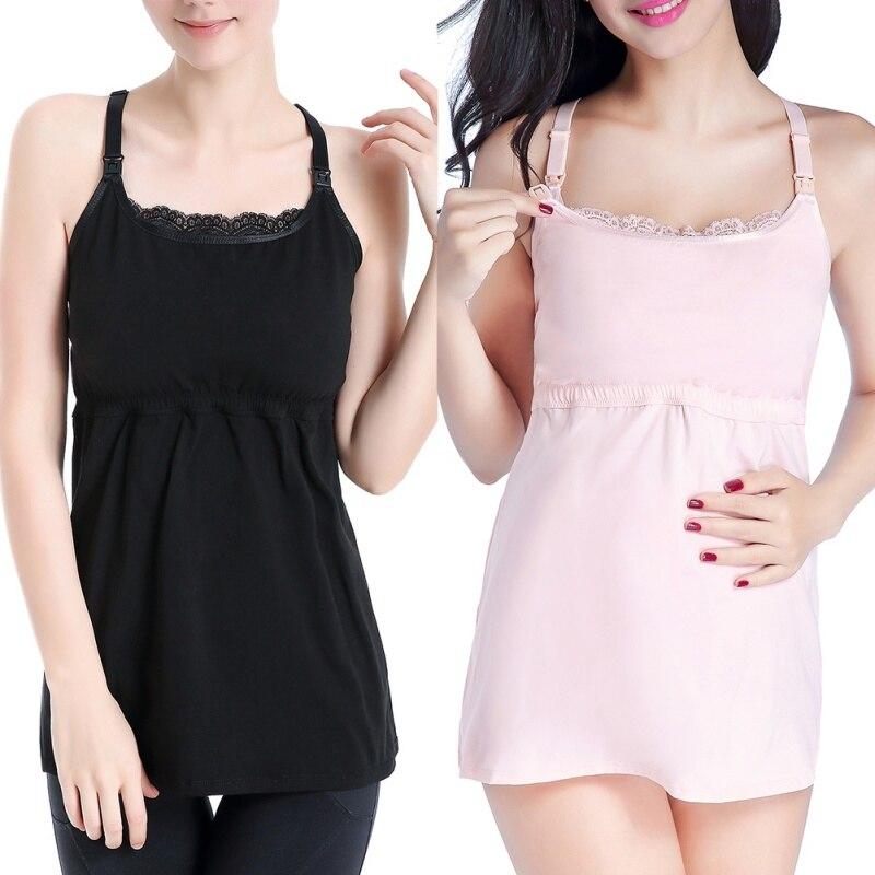 Maternity Camisole Comfy Pregnant Women Wireless Cami Tank Tops Breast Feeding Top Vest Nursing Underwear