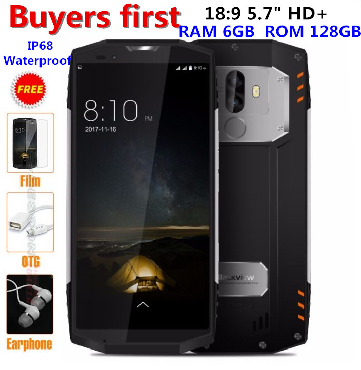 Blackview BV9000 Pro 4G Mobile Téléphone 18:9 5.7 MTK6757 Octa base Android 7.1 6 GB + 128 GB 13MP Étanche IP68 NFC OTG smartphone