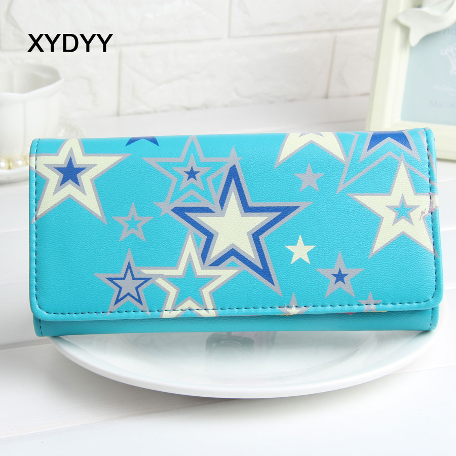 XYDYY Casual Eiffel Tower Printed Women Wallets Brand Design High Quality PU Leather Wallet Female Hasp Long Purse Card Holder casual weaving design card holder handbag hasp wallet for women