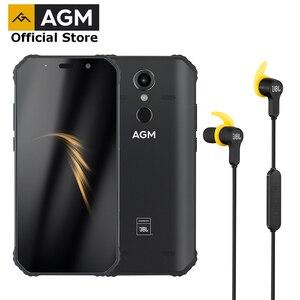 Официальный AGM A9 + наушники JBL FHD + JBL кобрендинг смартфон 4G Android 8,1 прочный телефон IP68 Водонепроницаемый NFC Quad-Box колонки