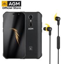 Oficial agm a9 + jbl fone de ouvido fhd + jbl co marca smartphone 4g android 8.1 telefone áspero ip68 impermeável nfc quad box alto falantes