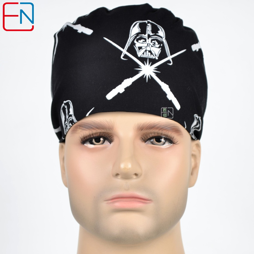 Unisex Surgical Hats Star