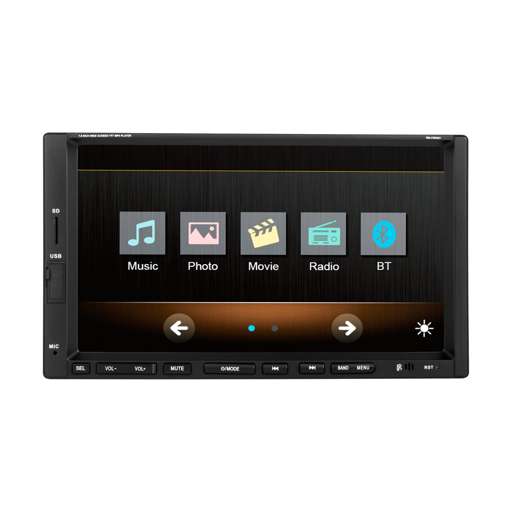 New 2 DIN 7inch screen Support Rear Camera Car Stereo MP4 Player 12V Car MP5 font