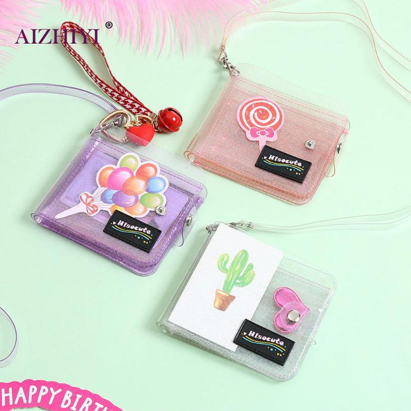 Transparent Coin Purse Women Wallet Laser PVC Card Clear Short Purse Mini Money Wallet Card Holder Female Mini Zipper Wallets
