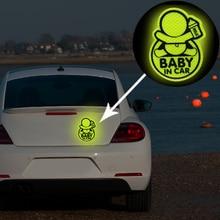 Автомобильный персональный ребенок в автомобиле Guan Yuanguang светоотражающие наклейки светоотражающие Предупреждение ющие наклейки для предотвращения грохота динамиков