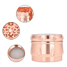 Saingace Rose Gold 4-layer 40mm Metal Herb Hand Crusher Herb Spice Tobacco Grinder Hot Search Best Gift DROP SHIP(China)
