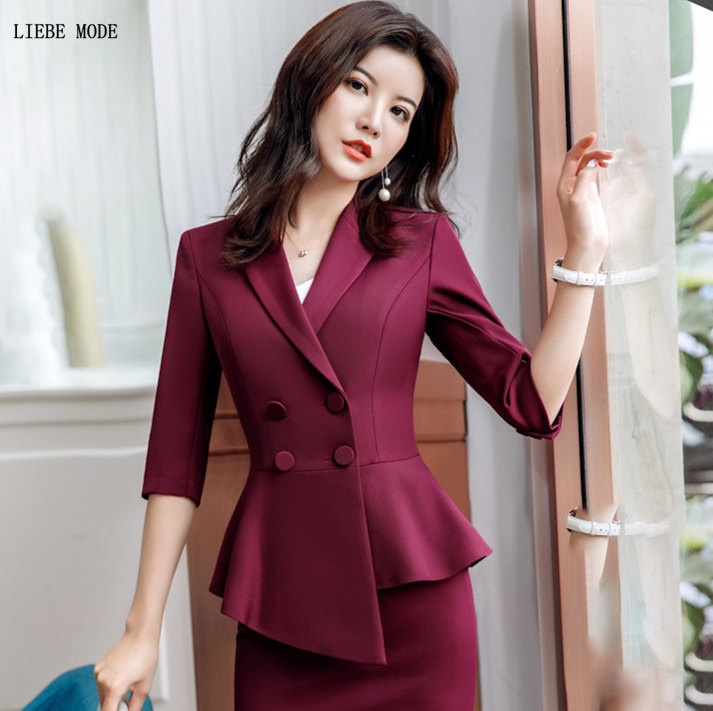 Women Sexy Double Breasted Button Slim Asymmetry Blazer Womens Korean Irregular Suit Jacket Mujer Plus Size Formal Blazer 4XL