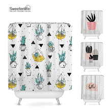 Shower Curtains Wholesale Bath-Screens Polyester-Fabric Waterproof New Plant Sweetenlife