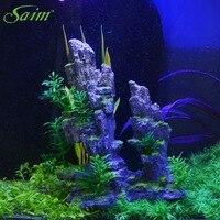 Saim New Decorative Rocks Simulation Rockery Decorative Aquarium For Fish Tank Resin Ornaments Decoration Aquarium B0000030650