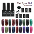 1Pcs 6ml Nail UV Gel Polish LED Cat Eye Color Manicure 48 Color Healthy and Eco-friendly Gel Lacquer New Arrival