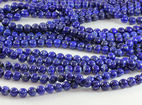 100% Natural Lapis Lazuli Gem Stone 4 6 8 10mm Round Gem stone loose beads For jewelry making 1string