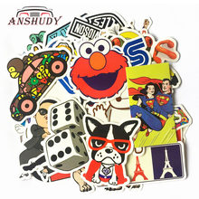 50pcs Car Motorcycle Stickers Classic Fashion Style Suitcase Waterproof Removable Computer refrigerator Cartoon Graffiti Sticker(China)
